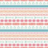 Hand drawn geometric ethnic seamless pattern. Wrapping paper. Scrapbook paper. Doodles style. Tiling. Tribal native vector illustration. Aztec background. Stylish ink graphic texture for design. — Stock Vector