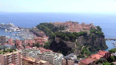 Bird's eye view of principality of monaco — Stock Video