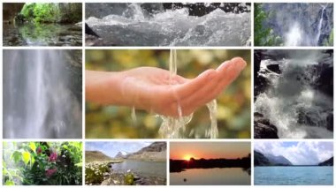 Water is the most precious asset on the planet, montage — Stock Video