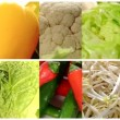 Close up of diverse vegetables, montage — Stock Video #59480047