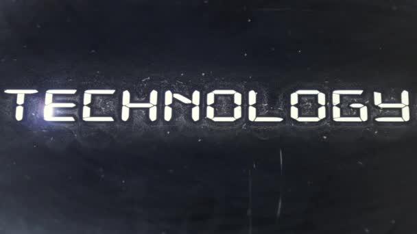 Technology laser beam — Vídeo de stock