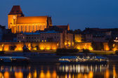 Torun (Poland) at night — Stock Photo
