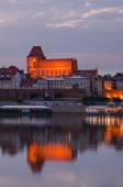 Old town of Torun (Poland) in the sunset — Stock Photo