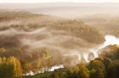 Fog over Neris river in Lithuania — Stock Photo