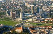 Aerial view of New Center of Vilnius, Lithuania — Stock Photo