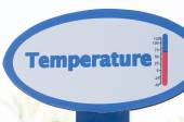 Temperature sign — Stock Photo