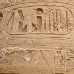Hieroglyphs  in Precinct of Amun-Re  (Karnak Temple Complex, Luxor, Egypt) — Stock Photo #65706459