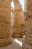 Columns in Precinct of Amun-Re  (Karnak, Luxor, Egypt) — Stock Photo