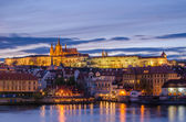 Castle of Prague (Czech Republic) and Vltava River — Stock Photo