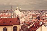 Aerial view of Prague (Czech Republic) — Stock Photo