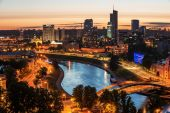 Aerial view of Vilnius, Lithuania — 图库照片