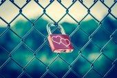 Love Lockers vintage style — Stock Photo