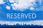 Reserved text on cloud — Stock Photo