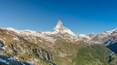 Matterhorn with blue sky, Zermatt, Switzerland — Stock Photo