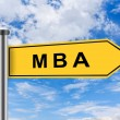 MBA or Master of Business Administration road sign — Stock Photo
