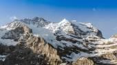 Jungfrau Mountain Range with Blue Sky in Switzerland — Zdjęcie stockowe