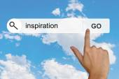 Inspiration on search toolbar — Stock Photo