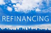 Refinancing text on cloud — Stock Photo