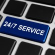 24-7 service button on keyboard — Zdjęcie stockowe #58657549