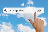 Complaint on search toolbar — Stock Photo