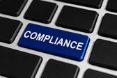 Compliance button on keyboard — Stock Photo