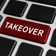 Takeover button on keyboard — Stock Photo #70726327