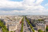Champs elysees Avenue view from Arc de Triomphe, Paris, France — Stock Photo