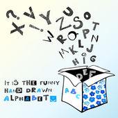 Hand gezeichneten alphabet — Stockvektor