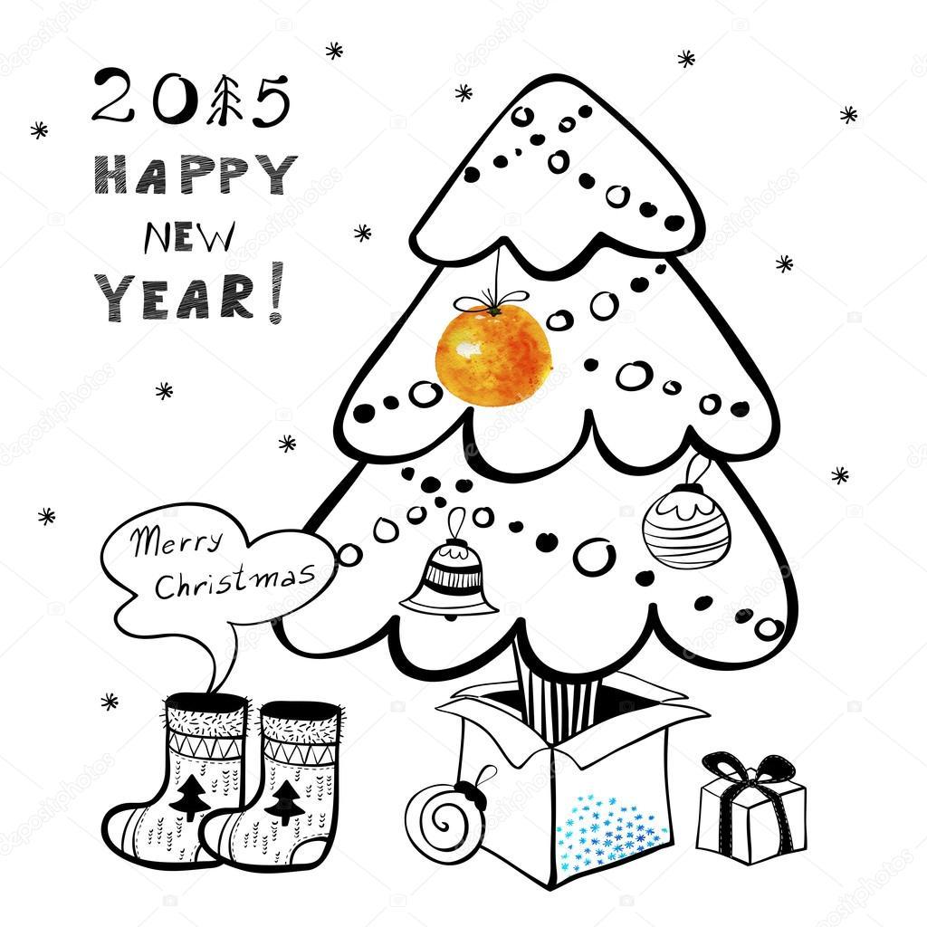 圣诞贺卡边框设计简笔画