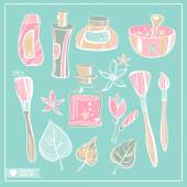 Beauty symbols set — Stock Vector