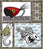 Pêche de Tiki — Vecteur