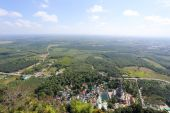 Aerial view from mountain — Stock Photo