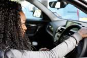 Young African female driver — Stock Photo
