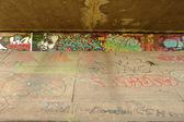 Graffiti on wall under bridge in Poznan, Poland — Photo