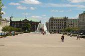 Freedom square in Poznan, Poland — Stock Photo