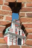 Part of Fara Church in Poznan, Poland — Stock Photo