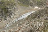岩石和在瑞士的阿尔卑斯山冰川 — 图库照片