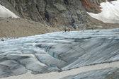 People on glacier (Steigletscher) in Alps in Switzerland — Stock Photo