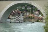 Bridge and buildings at Aare river in Bern, Switzerland — Stock Photo