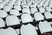 Chairs in open air cinema — Stock Photo