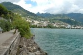 Montreux at Geneve lake in Switzerland — Stock fotografie
