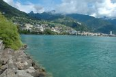 Montreux at Geneve lake in Switzerland — ストック写真