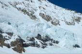 Snow on Monch mountainside at Jungfraujoch in Switzerland — Stock Photo