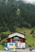 Pfinstegg cable car in Grindelwald in Switzerland — Stock Photo