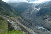 Rock and glacier in valley nearby Grindelwald in Switzerland — Stock Photo