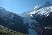 Glacier nearby Grindelwald in Alps in Switzerland — Stock Photo