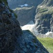 Glacier and trail nearby Grindelwald in Switzerland — Stock Photo #64705013