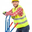 Manual worker in reflective clothes — Stock Photo #63752149