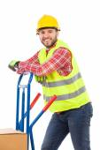 Manual worker in reflective clothes — Stock Photo