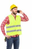 Pensive worker on the phone — Stock Photo